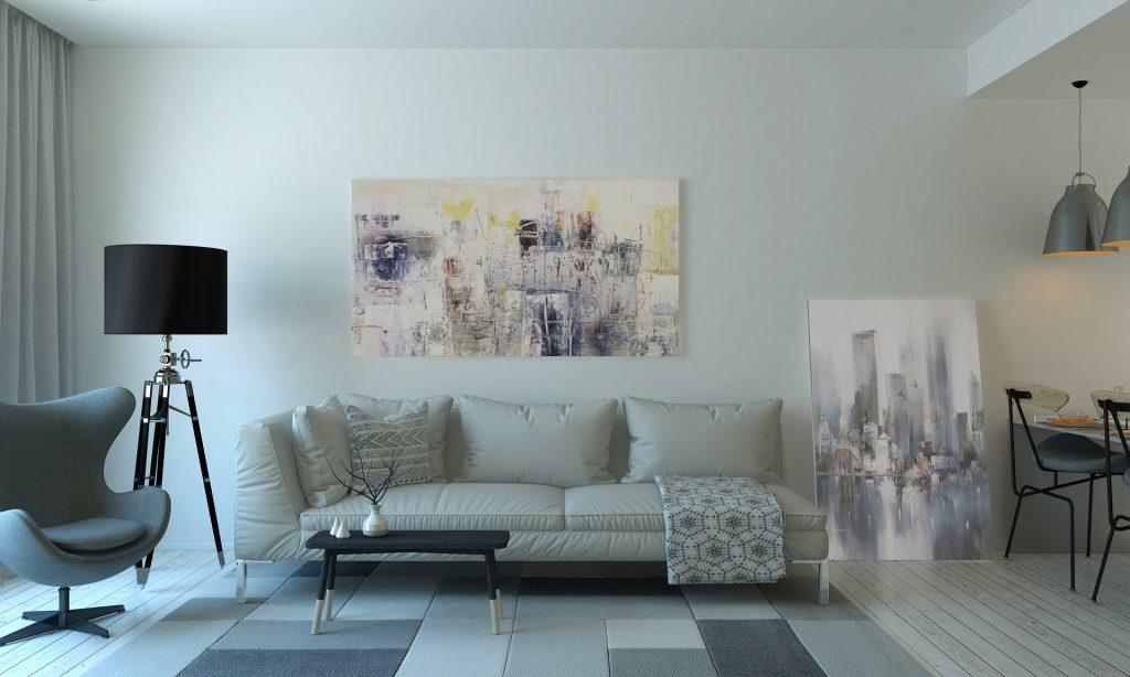 Sofa Warna Putih yang Membuat Ruang Tamu Kecil Tampak Luas